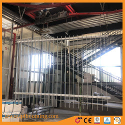 Security Face Welded Slat Steel Fence with Powder Coating