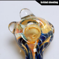 New Glass Hand Pipe Spoon Wholesale Hookah Tobacco Glass Smoking Pipe