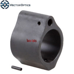 """Vector Optics 0.875"""" Steel Micro Low Profile Gas Block with Pin for 875.875 0.875 Ar 15 Ar15.223 5.56 Barrel Gas Tube"""