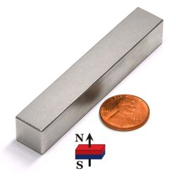 Super Strong Grade N52 Neodymium Rare Earth Magnet 3X1/2X1/2 Inches