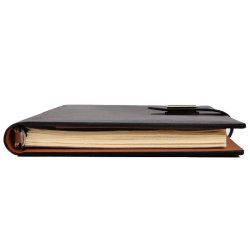 High-End Business Magnet Leather Ring Binder Notebook