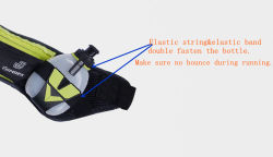 LDPE Bottle Outdoor Sports Waist Bag Hydration Running Pouch Belt with Two Bottle Holders