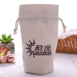 Customized Logo Cheapest Plain Cotton Bags Packaging for Dry Herb Wholesale