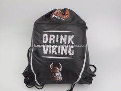 Advertising Promotional Polyester Sports Gym Drawstring Backpack Drawstring Bag