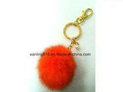 Cute Soft Faux Fur Ball Keychain Bag Purse Charm Ring