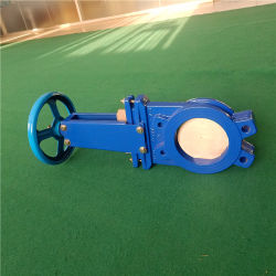 Hand Wheel / Manual Jin Knife Gate Valve for Slurry/Water/Pulp Application