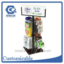 Customized Countertop Metal Rotating Accessory Display Rack
