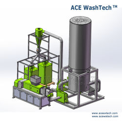 Waste Plastic PE LDPE Agricultural Film/HDPE Bottle/PP Woven Bag Raffia Recycling Washing Machine