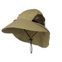 dcc47989196 Fishmen Brown Sun Bucket Hat with Mesh