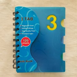 Spiral Notebook Spiral PP Cover Diary Hardcover Notebook (Blue)