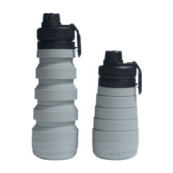 Medicine Storage Case FDA Leak Proof Sports Foldable Water Bottle with Pill Box