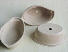 New Products Natural Bamboo Fiber Flower Pots (BC-FP1040)