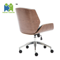(VIPA) 2018 Popular Office Chair PU Leather Rose Wood Chairs Swivel Boss/Manager Office Chair