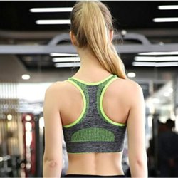 Women's Seamless Sports Fitness Yoga Bra with High Impact Pocket