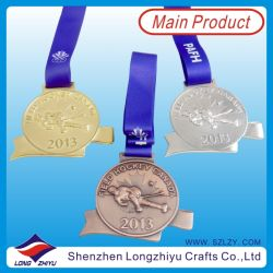 Canadian Popular 3D Relief Medal Stamping Hockey Medal Ribbon, Metal Sports Awarding Medallion Commemorative Award Gifts (lzy-201300046 (107))