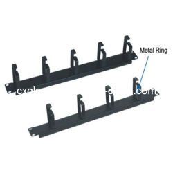 1u 19 Inch Cable Manager with 4/5 Rings