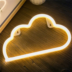 3AA Battery & USB Powered Wholesale LED Neon Cloud Night Light Christmas Decoration 2018