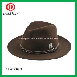 e19c6f4ddabab Brown Wool Felt Wide Brim Cowboy Hats for Europe (CPA 21026)