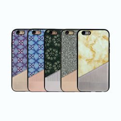Hybrid PU Paste TPU Mobile Accessories Phone Case for iPhone