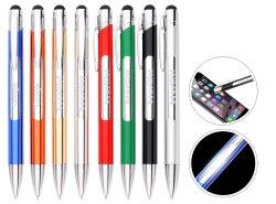 2019 Promotional Custom Logo New LED Pen with Logo Light, Promotion Gift 3 in 1 Plastic Ball Point Stylus Pen