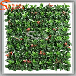 Landscape Design Orange Leaf Fake Grass Wall Artificial Green Wall