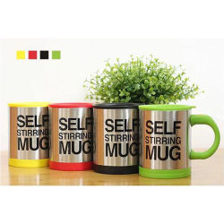 Stainless Steel Lazy Self Stirring Mug Auto Mixing Tea Coffee Cup Office Home Gifts