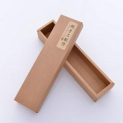 Round Shape Telescope Kraft Paper Loose Tea Box with Plastic Insert Lid for Sealing