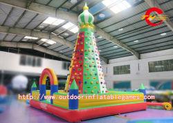 0.55mm Thickness PVC Tarpaulin Inflatable Climbing Wall/ Giant Inflatable Kids Rock Climbing Wall