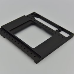 Medical Spare Parts with Black Anodizing Aluminum CNC Milling Parts
