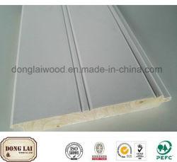 Custom Waterproof Finger Joint Wood Decroration Exterior Wall Panel Chair Rail