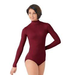 e9bc1e5e67f8 Ballet Leotard Gymnastics Leotard High Neck Zipper Back Leotard Nylon Women  Dance Wear Winter Long Sleeve