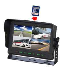 7 Inches TFT LCD Color Bus Monitor 24V Wiring with SD Card