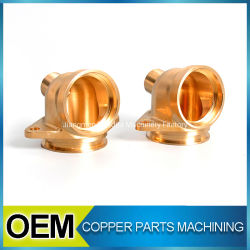 High Precision Customized Red Copper CNC Mould Machining Fittings