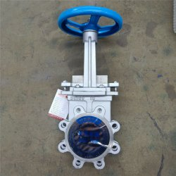 Pn10 Wafer Connection Type Slurry Valve Knife Gate Valve with CE / ISO Certificate