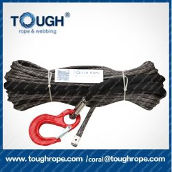Tr-49 Dyneema Synthetic 4X4 Winch Rope Core Rope with Sheath Forest Rope with Hook