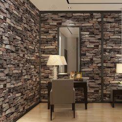 Interior Design PVC Vinyl 3D Brick Wallpaper Wall Papers Home Decor