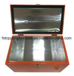 Rolling Steel Aluminum Outdoor Portable Mini Freezer Cooler Box