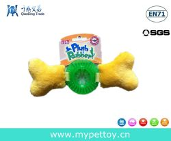 New Arrival Plush with TPR Bone Dog Toy Pet Product