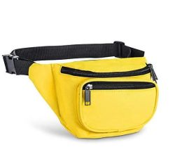 3 Zippered Compartments Adjustable Waist Sport Fanny Pack Bag Fanny Pack
