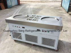 Wholesale Price Two Flat Pans Fried Ice Cream Machine