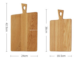Custom Unpainted Oak Wooden Cutting Board Chopping Board