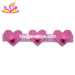Wholesale Heart Shape Wooden Wall Coat Hooks for Bathroom W09b083