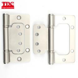 "4""X3""X2.5mm/2.7mm Korea Type Flush Door Hinge with 2 Ball Bearing and Pearl Nickel Finish"