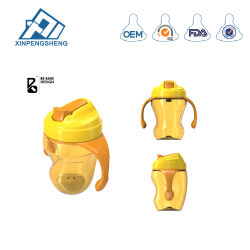 BPA Free Drinking Cup with Handle Infant Feeding Bottle Milk Bottles Wide Neck Training Drinking Cup