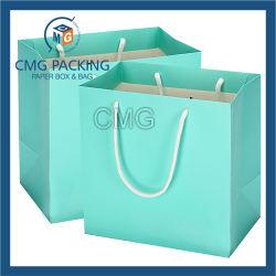 Blue Hot Foil Printing Kraft Paper Gift Bag (DM-GPBB-160)