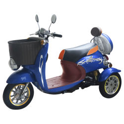 500W Disabled 3 Wheel Electric Mobility Scooter with Lead-Acid Battery