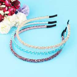 New Fashion Women Lady Girl Crystal Metal Band Hair