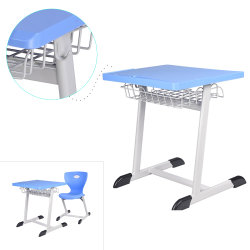 Plastic Study Table and Chair of School Furniture Popular in Saudi Arabia