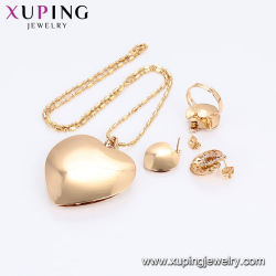 61264 Hot Sale 18K Gold Plated Colorful Tie Design Jewelry Set