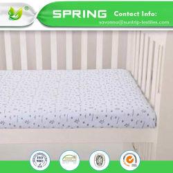 Portable Mini Crib Mattress Pad Cover White Baby Bedding Comfort Soft Gentle